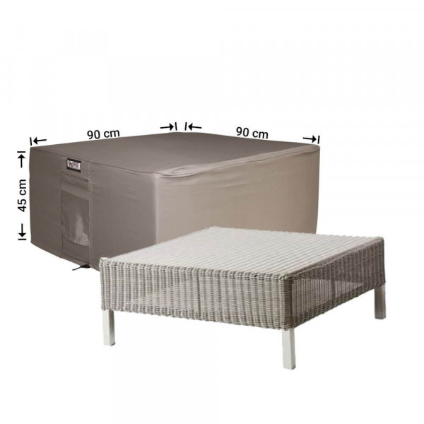Footstool cover 90 x 90 H: 45 cm