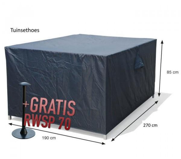 Rectangular furniture set cover 270 x 190 H: 85 cm