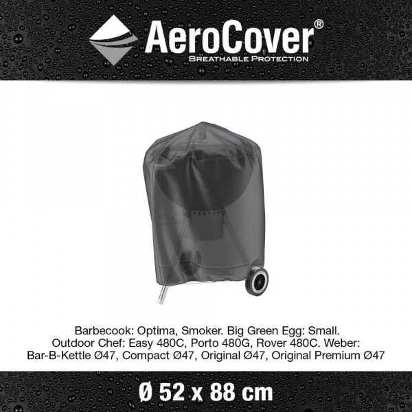 Charcoal grill cover Ø 52 cm & H: 88 cm