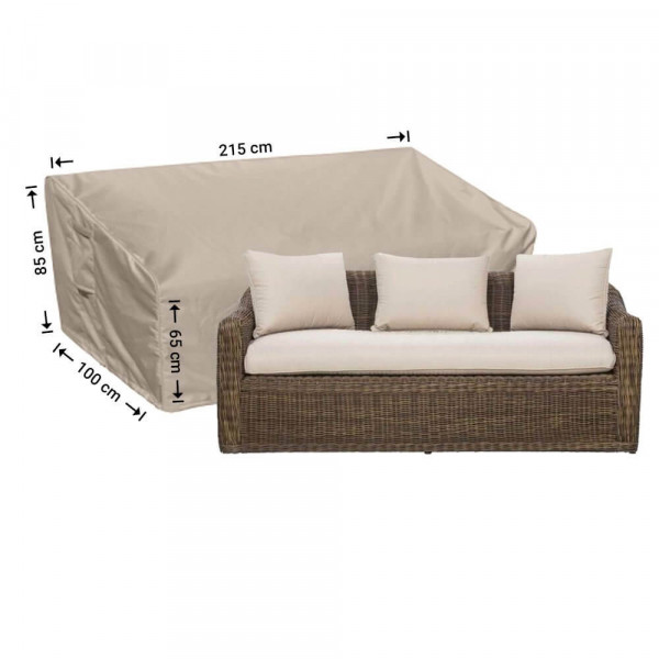 Lounge sofa cover 215 x 100 H: 85 / 65 cm