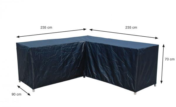 Garden cornersofa cover 235 x 235 x 90 H: 70 cm