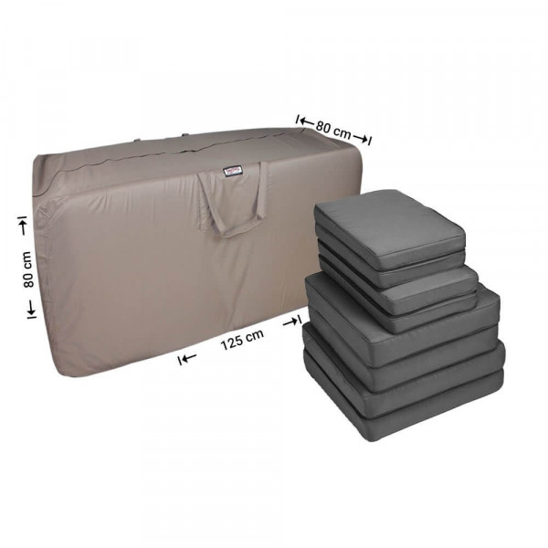 Lounge set cushions storage bag 125 x 80 H: 80 cm