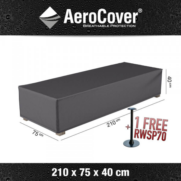 Cover for sun lounger 210 x 75 cm, H: 40