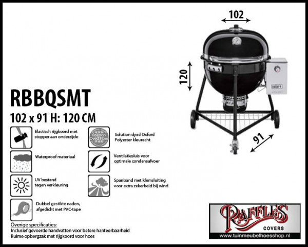 Bbq cover for Weber Summit Ø 61 cm H: 120 cm