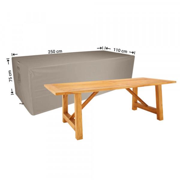 Protective cover for a garden table 250 x 110 H: 75 cm