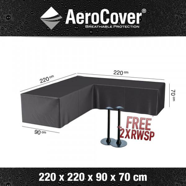 Cover lounge corner sofa 220 x 220 H: 70 cm