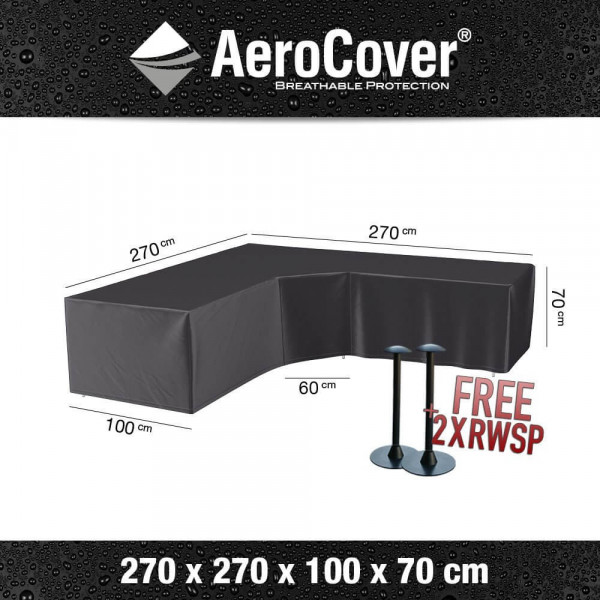 Cover for a garden sofa with a trapeze corner 270 x 270 H: 70 cm