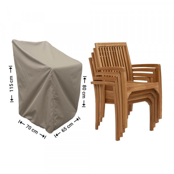 Cover for stacking chairs 70 x 65 H: 80/115 cm