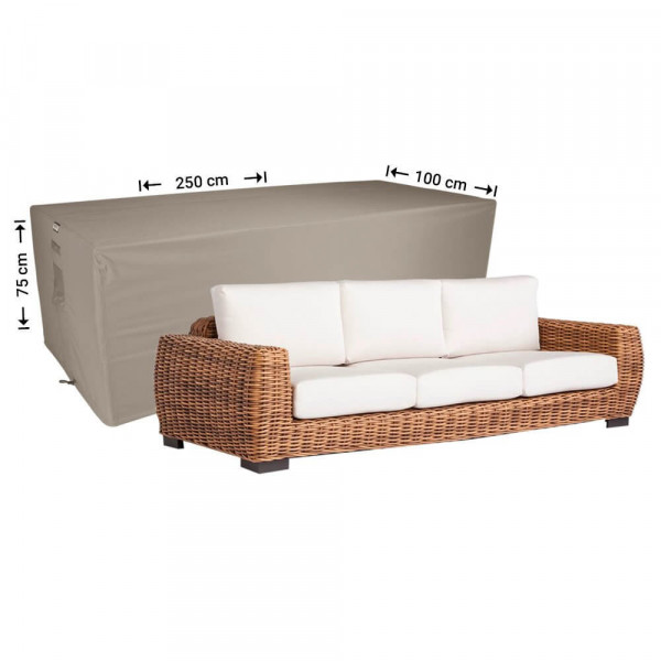 Outdoor lounge sofa cover 250 x 100 H: 75 cm