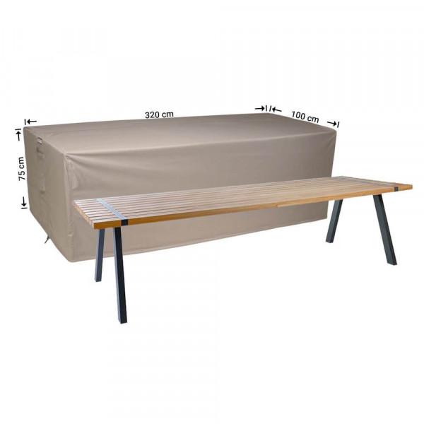 Cover for over a garden table 320 x 100 H: 75 cm