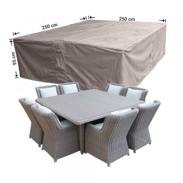 Rectangular patio furniture cover 250 x 250 H: 95 cm