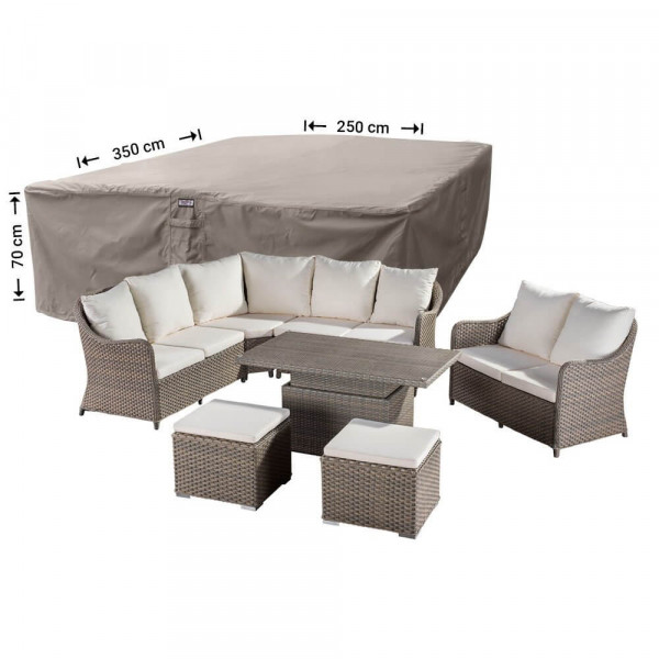 XL cover for garden furniture lounge set 350 x 250 H: 70 cm