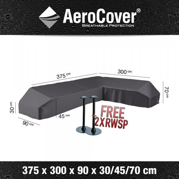 Platform cover for a corner sofa 375 x 300 x 90 H: 30/45/70 cm