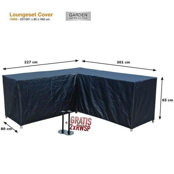 Corner lounge sofa cover 301 x 227 x 80 H: 65 cm