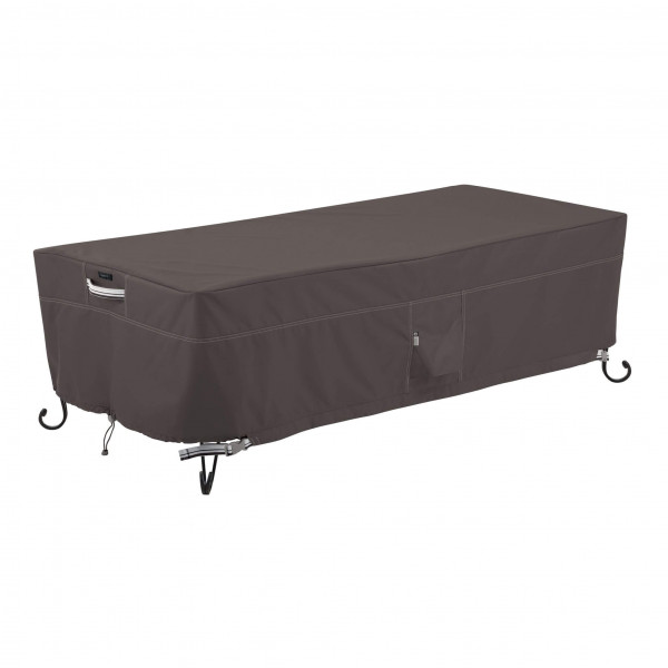 Cover for large firepit table 152 x 71 H: 38 cm