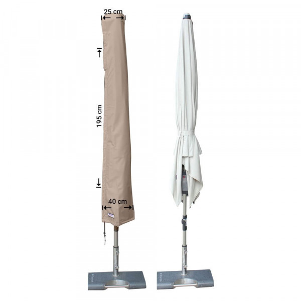 Weather cover for parasol H: 195 cm