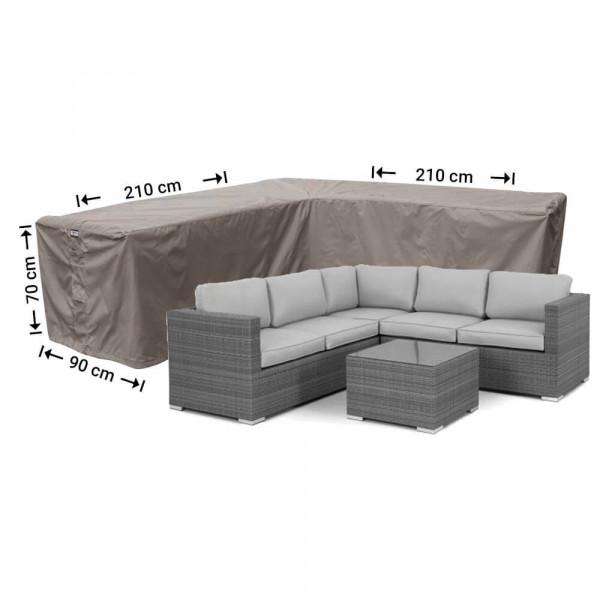 Corner sofa cover small 210 x 210 x 90, H: 70 cm