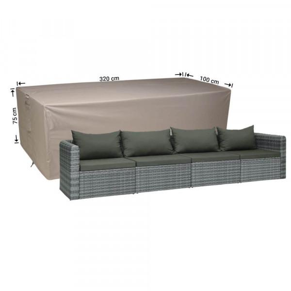 Lounge patio sofa 320 x 100 H: 75 cm