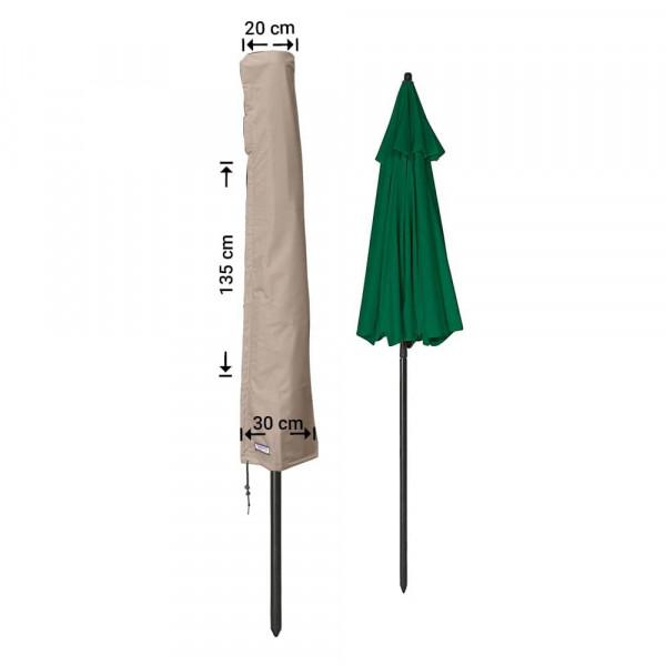 Protection cover for garden parasol H: 135 cm