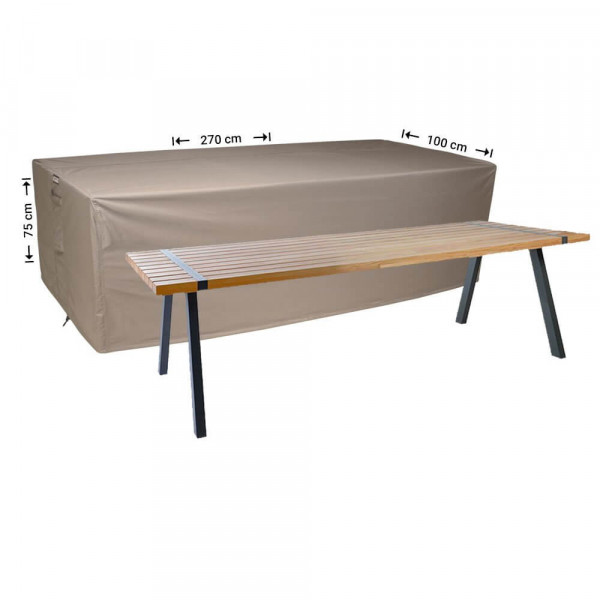 Rectangular outdoor table cover 270 x 100 H: 75 cm