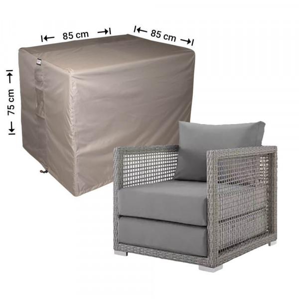 Outdoor lounge seat cover 85 x 85 H: 75 cm