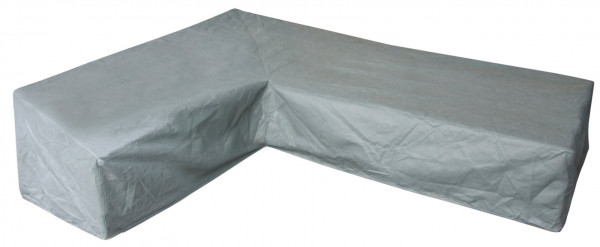 Weather cover for a L-shaped dining lounge 305 x 250 x 105 H: 100 - 70 cm