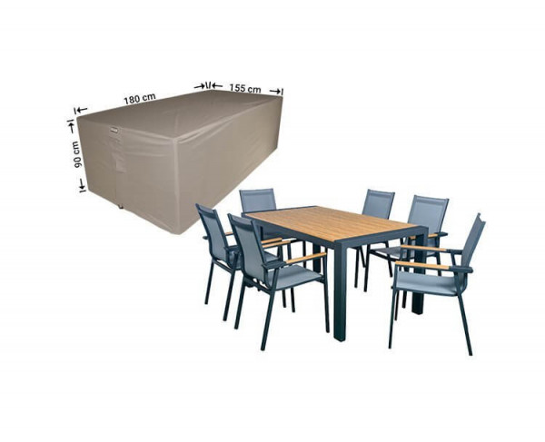 Protection cover outdoor dining set 180 x 155 H: 90 cm