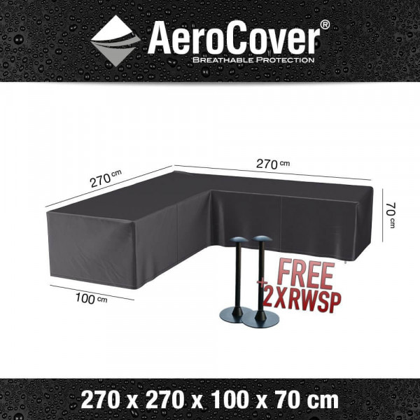 Cover for corner sofa 270 x 270 H: 70 cm