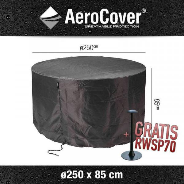 Round patio table cover Ø 250 cm & H: 85 cm