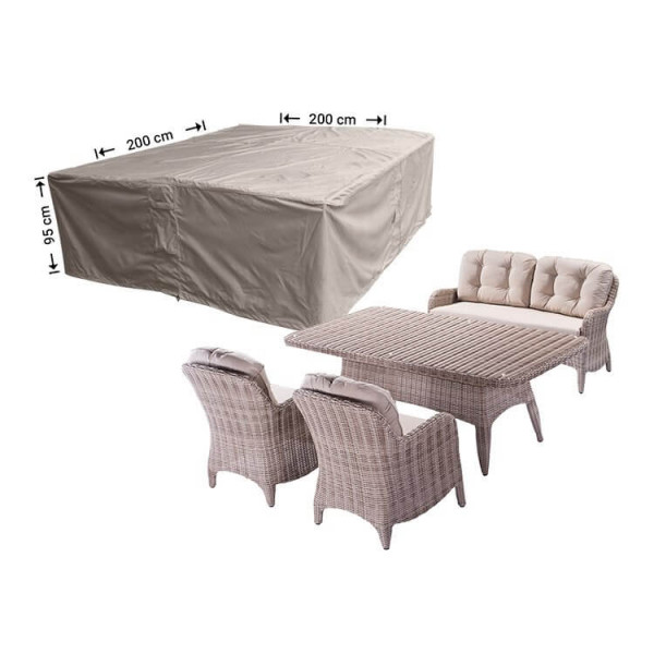 Cover for a square garden furniture set 200 x 200 H: 95 cm