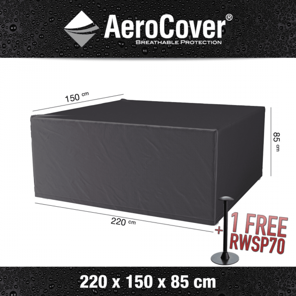 Protection cover for garden set 220 x 150 H: 85 cm