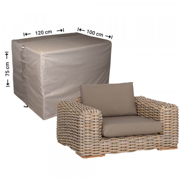 Weather cover for rattan chair 120 x 100 H: 75 cm