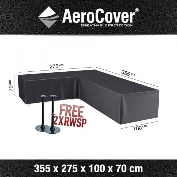 Corner sofa cover breathable 355 x 275 x 100 H: 70 cm