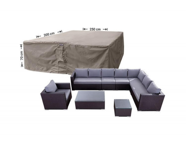 Outdoor lounge set cover 300 x 250 H: 70 cm