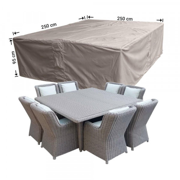 Square loungeset cover 250 x 250 H: 95 cm