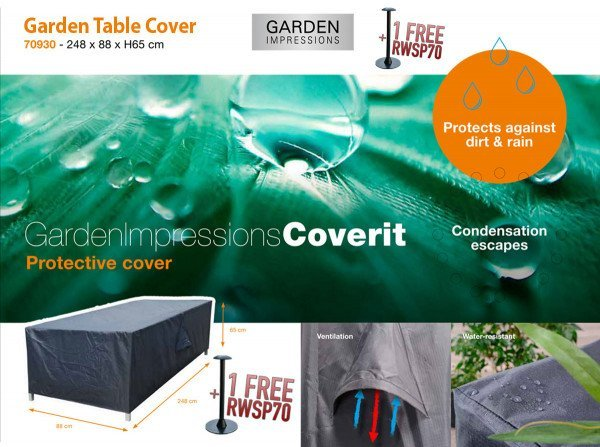 Table protection cover 248 x 88 H: 65 cm