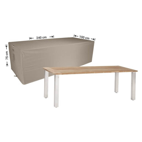 Outdoor table cover 240 x 100 H: 75 cm
