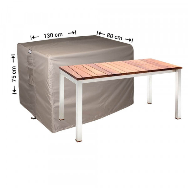 Cover for outdoor table 130 x 80 H: 75 cm