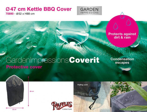 Protection cover round BBQ Ø: 47 cm & H: 88 cm