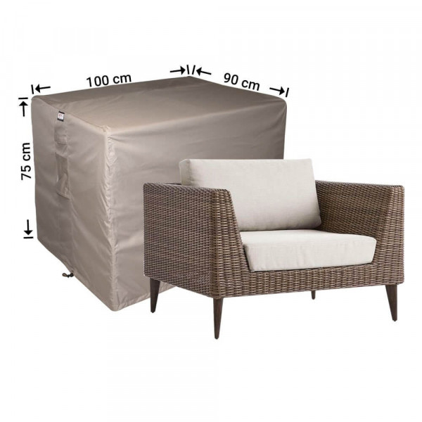 Outdoor lounge chair cover 100 x 90 H: 75 cm