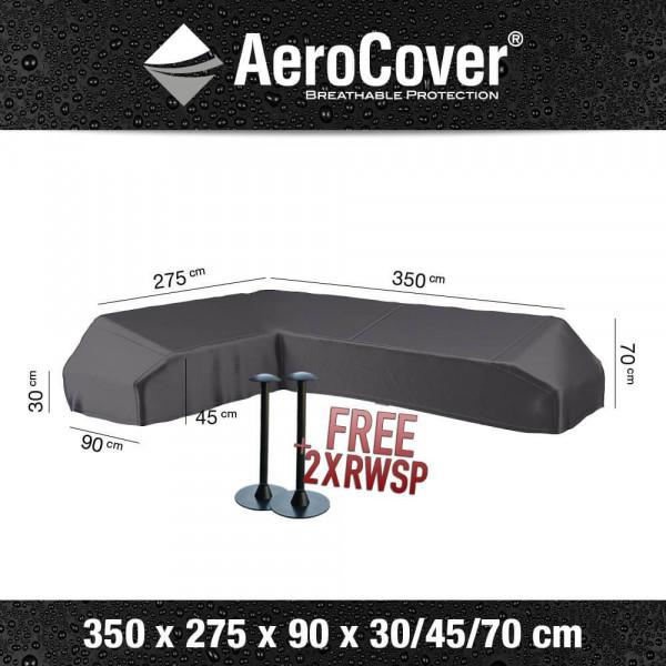 Asymmetrical platform sofa cover 350 x 275 x 90 H: 30/45/70 cm