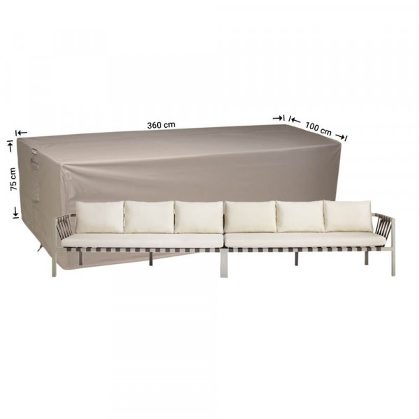 Cover for rattan lounge sofa xxl 360 x 100 H: 75 cm