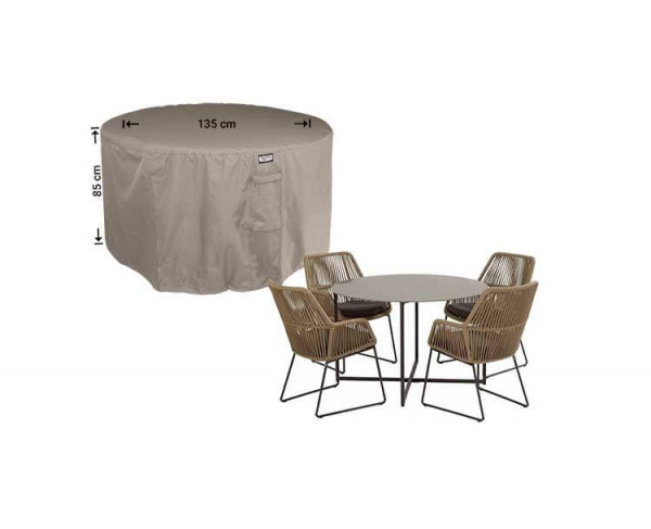 Outdoor dining set cover round