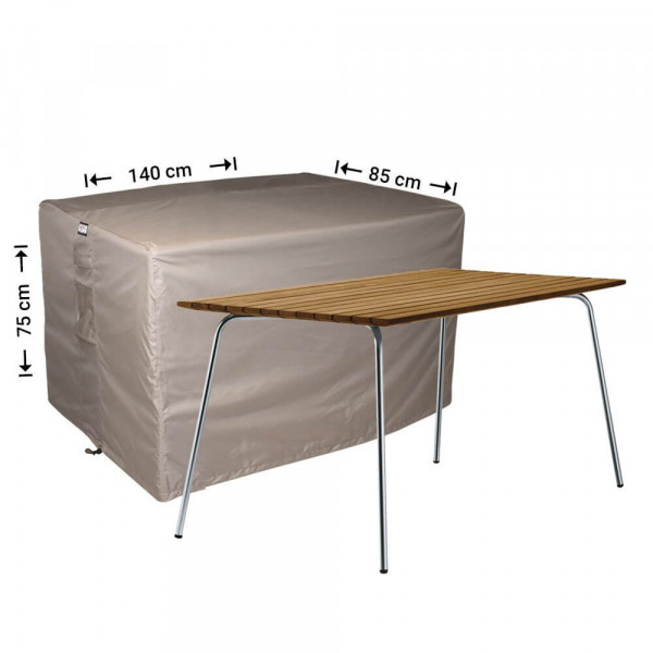 Outdoor table protection cover 140 x 85 H: 75 cm
