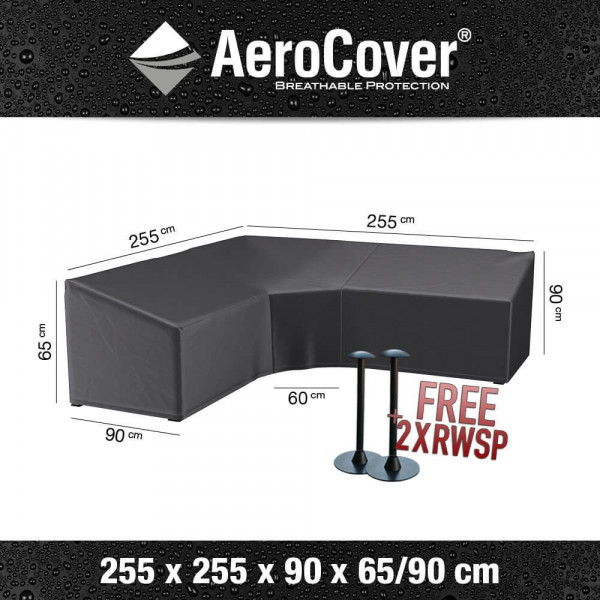 Cover for a corner sofa dining model 255 x 255 H: 90 - 65 cm