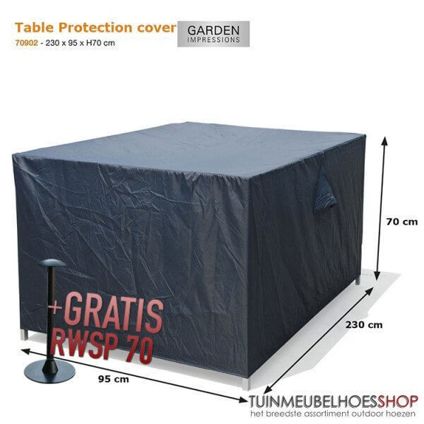 Outdoor loungesofa cover 230 x 95 H: 70 cm