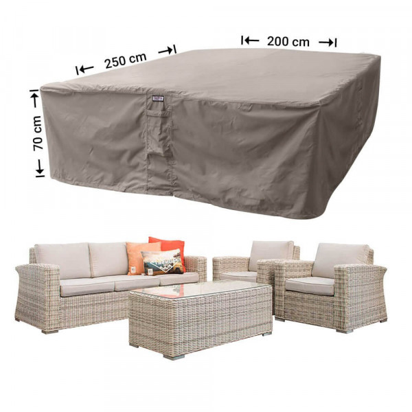 Lounge set cover for rattan furniture 250 x 200 H: 70 cm