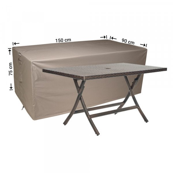 Weather cover for garden table 150 x 90 H: 75 cm