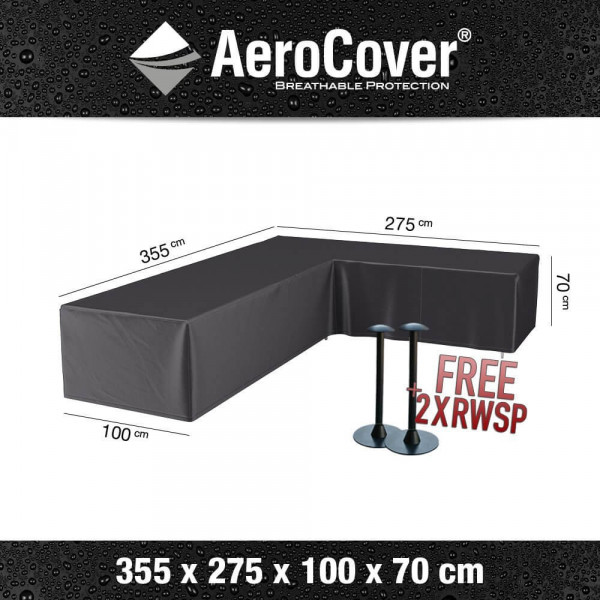 Cover for lounge corner sofa 355 x 275 x 100 H: 70 cm
