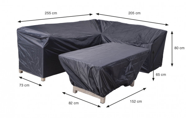 Protection cover complete loungeset (sofa+table) 255 x 205 x 73 H: 80 cm
